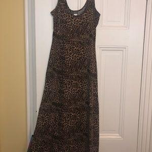 Leopard/ cheetah print maxi dress
